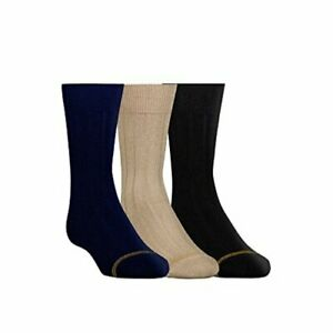 Boys' Wide Rib Dress Crew Socks, 3-Pair,, Navy/Khaki/Black, Size 3.0 khZT