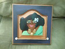 Original Folk Art Painting by Michelle Edwards Black African American Woman