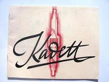 OPEL KADETT-le vendite di automobili BROCHURE-TESTO FRANCESE-C1936