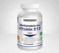 Vitamina B12 1000mcg Metilcobalamina 180 Tabletas Botella Hecho en GB Futurevits