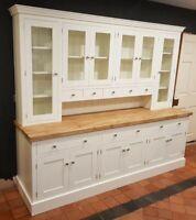 7ft Kaylem Handmade Painted Welsh Kitchen Dresser (Solid Wood Bespoke)