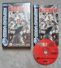 Sega Saturn RESIDENT EVIL  Complete V good   Manual in Fantastic !! Condition