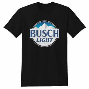New Busch Light Beer T-shirt  Men's  100% cotton Size S-3XL