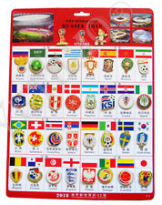 FIFA World Cup 2018 Russia Football Soccer 34 pin badge Worldcup Souvenir set