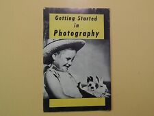 Getting Started in Photography vintage booklet 1940's-50's