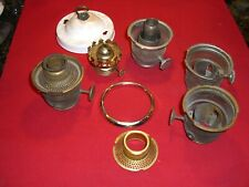 ANTIQUE VINTAGE ALADDIN MODEL B & MISCELLANIOUS OIL KEROSENE LAMP PARTS