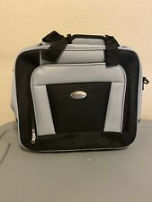 Bella Russo Roller Travel/Laptop Bag Black/Grey w/ Wheels 16.5""