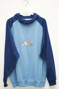 Adidas Pullover Hoodie Sweater Vintage Blau Herren Gr. XL