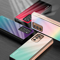 Luxury Tempered Glass Phone Case For Samsung Galaxy Z Fold 2 5G Protective Cover