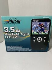 Digital Prism 3.5 In Handheld Portable Digital LCD TV Rechargeable - Open Box