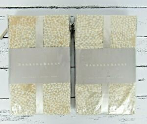 Barbara Barry TWO 2 BALI Floral Queen Pillow Sham Nectar NIP New In Package