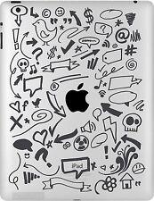 Autocollant sticker iPad barbeaux