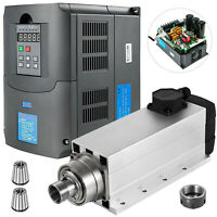 7.5KW ER32 Air Cooled Spindle Motor +7.5KW Variable Frequency Drive Inverter VFD