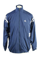 Vintage Adidas Mens Full Zip Tracksuit Top Three Stripes Size M Navy - SW2535