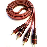 Audio Cinch Kabel Anschlusskabel 2* Stereo Chinch Stecker RCA w