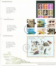 More details for first day cover gb 2009 darwin science [tallents house] typed address uk