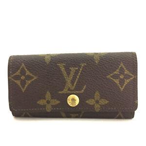 Louis Vuitton Monogram Multicles 4 Ring Key Case /F1262