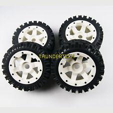 AU White Front Rear All Terrain Tyre tire Wheel for Rovan KM HPI baja 5b SS