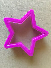 """""""Star"""" Shaped Purple Durable Plastic Cookie Cutter~2 3/4"""" X 2 3/4"""" X 3/4"""", NEW!"""
