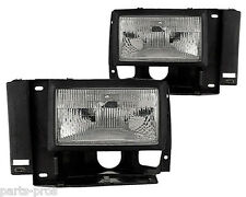 New Replacement Headlight Assembly PAIR / FOR 1989-94 FORD TRUCK & SUV