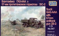 Unimodel 1/72 GAZ AAA Truck with ZIS-2 57mm Anti-tank Gun # 367