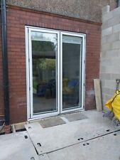2 Door White Aluminium Bifold Doors Including Blinds