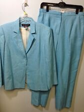 Harlan Size 8 Jacket Size 10 Pants Blue Suit