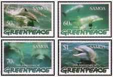 Timbres Faune marine Dauphins Samoa 858/61 ** année 1997 lot 24079