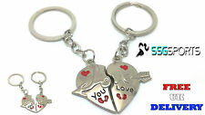 MOTHERS DAY SPLIT HEART LOVE KEYRING KEYCHAIN FOR HIM HER LOVE COUPLES GIFT