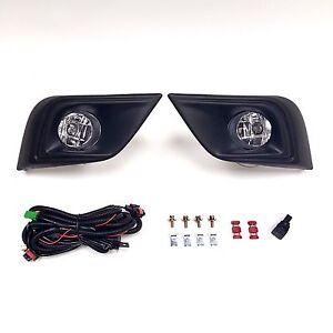 For 2015-2018 Nissan Murano Clear Lens Fog Lights Assembly w/Bezel Switch Bulbs
