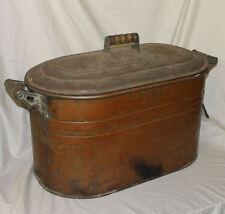 Antique Copper Boiler – Atlantic 15 gallon Size - Has Copper Lid all complete