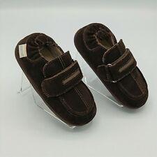Robeez Toddler Boy Brown Leather Moccasins sz 20-24 Months