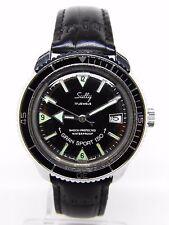 montre de plongée SULLY GRAN SPORT 150.mouvement LORSA P75 vintage 1970