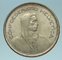 1969 B Switzerland Founding HERO WILLIAM TELL 5 Francs Silver Swiss Coin i83267