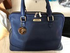 Authentic Versace Collection Satchel Handbag Bright Blue