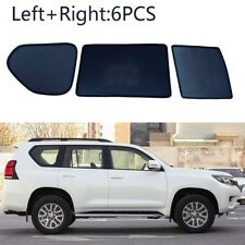 6pcs Side Windows Magnetic Sun Shade UV Ray Blocking Mesh Fit For Toyota Prado
