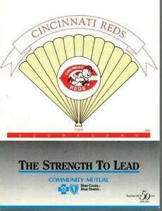 1989 (6/23) Baseball program LA Dodgers @ Cincinnati Reds, partly scored ~ VG