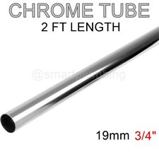 "Chrome Tube 2 FT LONG Wardrobe Rail Hanging Clothes 19mm (3/4"") *FREE DELIVERY*"