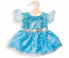 Kleid * Eis-Prinzessin * Puppen Puppenkleid Sternenfee mit Eiskristallen Heless