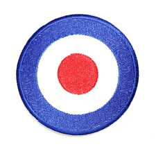 Vespa MODS Piaggio Target Team Racing Motorcycle Scooter Emblem Iron on Patch
