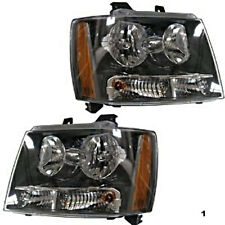 09-14 Chevy Suburban & Tahoe & Avalanche 1500 Left & Right Headlamp Assm Pair
