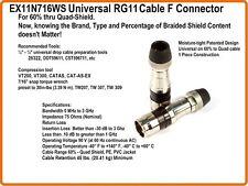 Lot 2 PPC RG11 EX11N716WS Compression Broadband Coax Connector EX11 7 11 Series