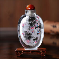 Inner Painting Snuff Bottle Chinese Antique Art Handicraft Countless Rich Fruits