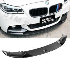 CARBON BMW 5 SERIES F10 SPLITTER LIP SPOILER  M SPORT 2009-2017