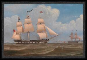 The English Merchant Ship Malabar William Clark Segelschiff Möwen Faks_B 03489