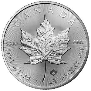 Kanada - 5 Dollar 2021 - Maple Leaf - Anlagemünze - 1 Oz Silber ST