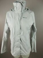 Marmot Size S Womens Gray FullZip Hooded Waterproof Pockets Thin Rain Jacket 338