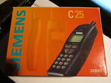 Siemens C 25 OVP nueva batería negro simfrei cargador Super aceptar Gebr Art nº 33 X