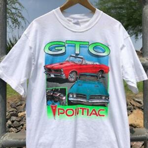 VTG 90s Gildan Pontiac GTO Car Graphic GM General Motors Graphic T Shirt L
