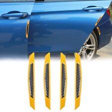 Yellow Carbon Fiber Protection Reflrvtive Strip Wheel Eyebrow Edge Guard Sticker